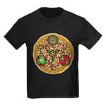 Celtic Reindeer Shield Kids Dark T-Shirt