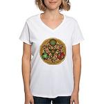 Celtic Reindeer Shield Women's V-Neck T-Shirt
