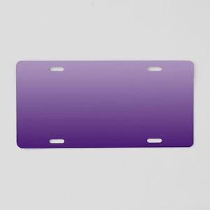 modern purple ombre Aluminum License Plate