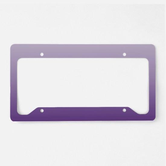 modern purple ombre License Plate Holder