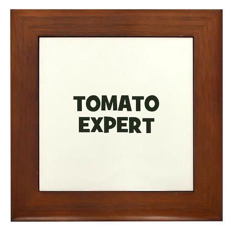 tomato expert Framed Tile