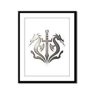 MKX Faction Black Dragon Framed Panel Print