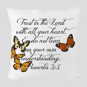 Trust in the Lord Woven Throw Pillow