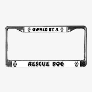 Rescue Dog License Plate Frame