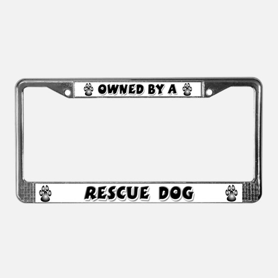 Rescue Dog License Plate Frame