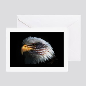 American Flag Eagle Greeting Card