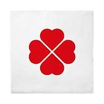 Four Heart Clover Design Queen Duvet Cover