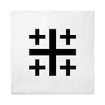 Jerusalem Cross Symbol Queen Duvet Cover
