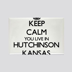 Keep calm you live in Hutchinson Kansas Magnets