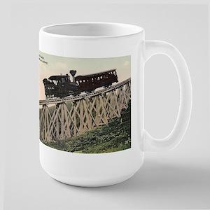 Cog Railway, Mount Washington, 1910 Large Mug Mugs