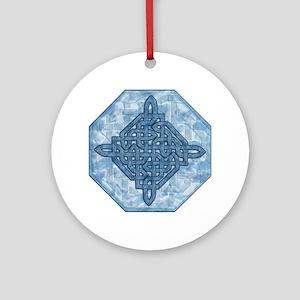 Celtic Aqua Ornament (Round)