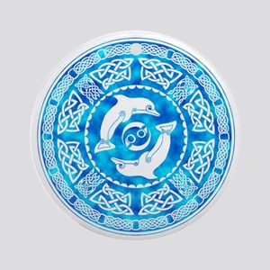 Celtic Dolphins Ornament (Round)