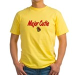 Army Major Cutie Yellow T-Shirt