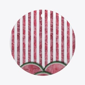 Watermelon Mania - double row pin Ornament (Round)
