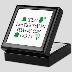 The Leprechaun Made Me Do It Keepsake Box