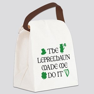 The Leprechaun Made Me Do It Canvas Lunch Bag