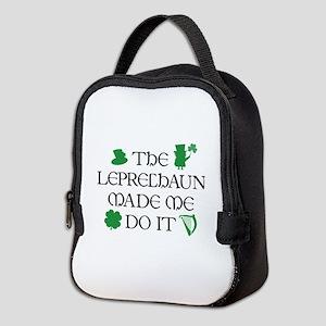 The Leprechaun Made Me Do It Neoprene Lunch Bag