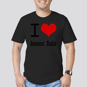 I Love Amateur Radio Men's Fitted T-Shirt (dark)
