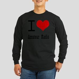 I Love Amateur Radio Long Sleeve Dark T-Shirt