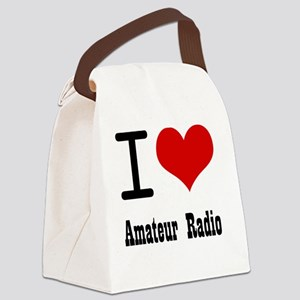 I Love Amateur Radio Canvas Lunch Bag