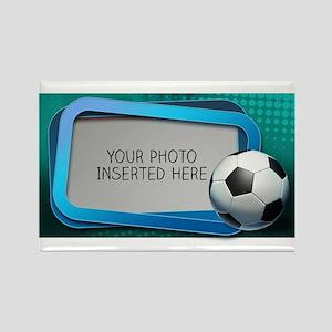 Soccer Debate L Rectangle Magnet