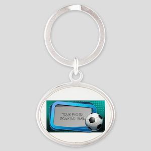 Soccer Debate L Oval Keychain