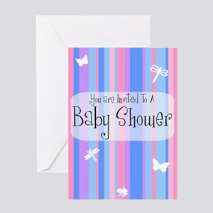 Baby Shower (stripes) Greeting Card
