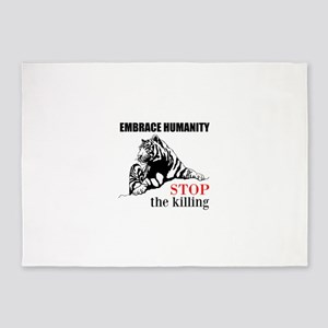 Embrace Humanity 5'x7'Area Rug