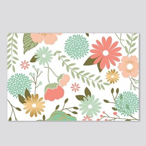 Modern rustic chic flowers Postcards (Package of 8