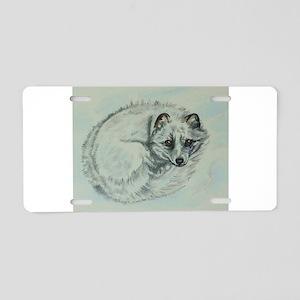 Arctic Fox Aluminum License Plate