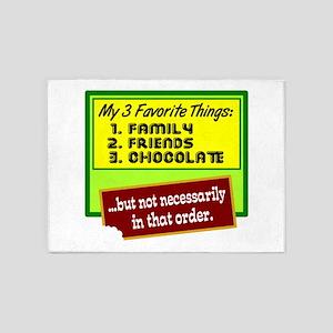 Favorite Things/Chocolate 5'x7'Area Rug