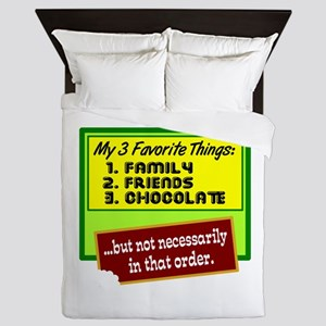 Favorite Things/Chocolate Queen Duvet