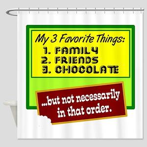 Favorite Things/Chocolate Shower Curtain