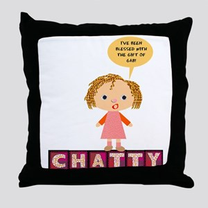 Chatty Throw Pillow