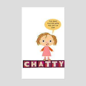 Chatty Rectangle Sticker