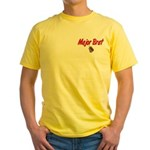 Army Major Brat Yellow T-Shirt