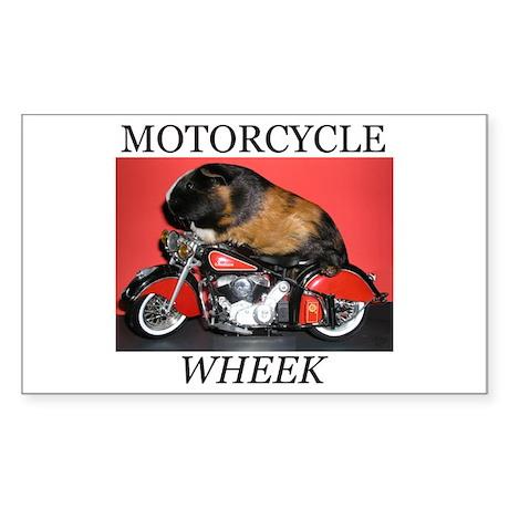 Motorcycle Wheek! Rectangle Sticker