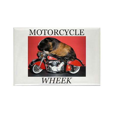Motorcycle Wheek! Rectangle Magnet (10 pack)