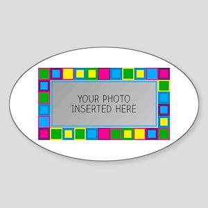 Vivid Tiles L Sticker (Oval)