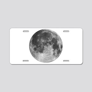 Beautiful full moon Aluminum License Plate