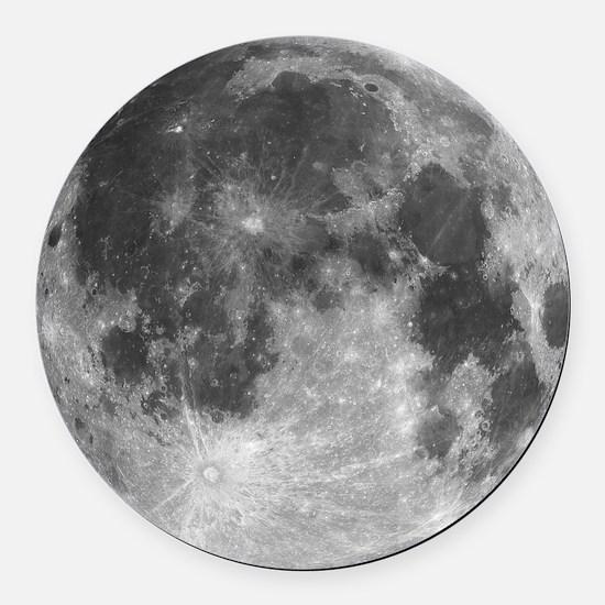 Beautiful full moon Round Car Magnet