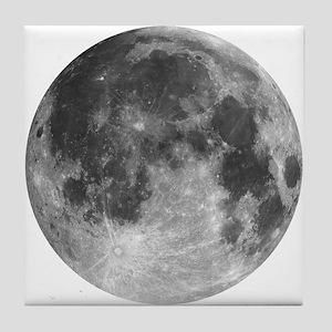 Beautiful full moon Tile Coaster