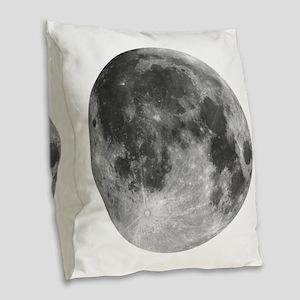 Beautiful full moon Burlap Throw Pillow