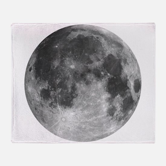 Beautiful full moon Throw Blanket