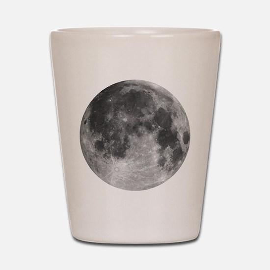 Beautiful full moon Shot Glass