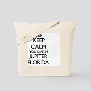Keep calm you live in Jupiter Florida Tote Bag