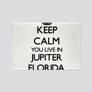 Keep calm you live in Jupiter Florida Magnets