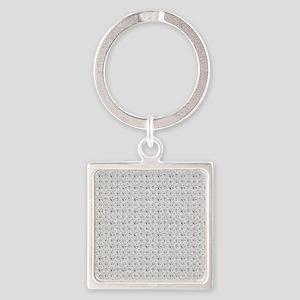 White Faux Glitter Keychains