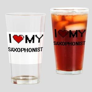 I love my Saxophonist Drinking Glass