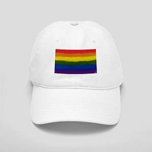 GAY PRIDE RAINBOW FLAG PAINT ART SIGNED Cap